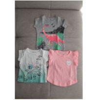 Kit 3 camisetas Carter`s - 3 a 6 meses - Carter`s