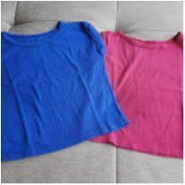 Kit 2 camisetas lisas - 18 meses - Mineral Kids