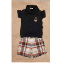 Conjunto bermuda e camiseta polo - 6 a 9 meses - Gymboree