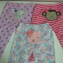 Kit 3 calças 12 meses Carters - 1 ano - Carter`s