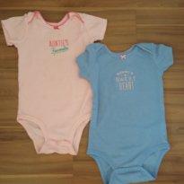 kit body Carters 12 meses (bordado) - 1 ano - Carter`s