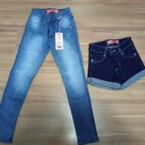 Calça Jeans + Short jeans tam 4 - 4 anos - Não informada