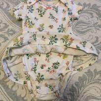 Body vestidinho lindoooo - 9 a 12 meses - Carter`s