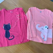 Camisetas manga longa carter's - 3 anos - Carter`s e Baby Gap