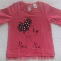 Blusa manga longa Minnie Mouse - Ri Happy Baby - 3 anos - Disney