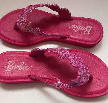 Rasteirinha Barbie - grendene kids - 25 - Grendene