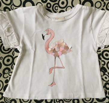 Blusinha Tema Flamingo - Zara Girls - 5 anos - Zara