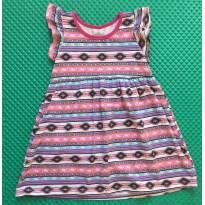 Vestido Geométrico - 3 anos - Renner