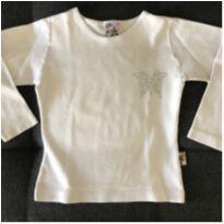 Camiseta Branca Manga Longa - 3 anos - Kidstok
