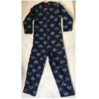 Macação Pijama Soft Tema Corações - 5 anos - Recco