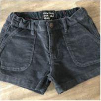 Shorts veludo - Zara - 5 anos - Zara Girls