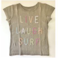 Camiseta live laugh surf - Carters - 5 anos - Carter`s