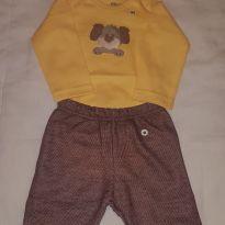 Conjuntinho de body e calça - 6 a 9 meses - Marca não registrada
