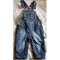 Jardineira jeans - 9 meses - Baby Cottons
