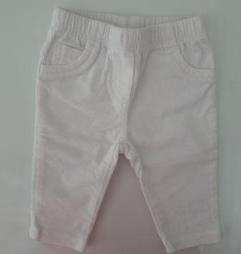 Calça de veludo branca - Carter´s - 0 a 3 meses - Carter`s