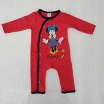 Macacão em malha da Minnie - 0 a 3 meses - Disney baby
