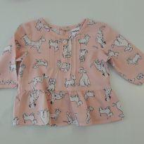 Camisa linda de cachorrinhos Carter´s - 0 a 3 meses - Carter`s