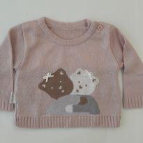 Blusa de linha com ursinhos - 0 a 3 meses - Fofinho
