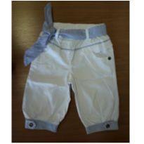 Calça feminina em algodão, estilo marinheiro - 6 a 9 meses - Baby Way