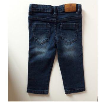 Calça Jeans com stretch - Tip Top - 6 a 9 meses - Tip Top