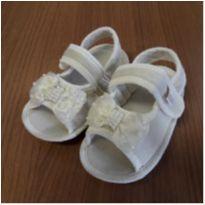 Sandália de tecido - Carinha de Nenê