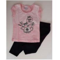 Conjunto de camiseta e legging - 1 ano - Rovitex e carol & dani