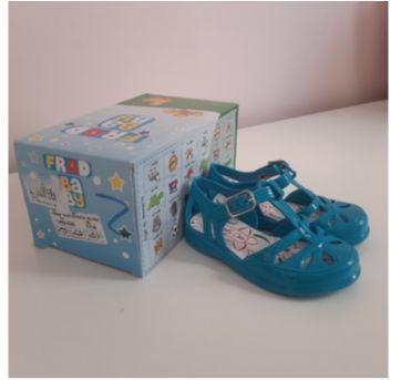 Sandália de borracha azul turquesa - 17 - frad baby