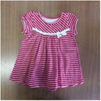 Vestido em malha listrado - Pulla Bulla - 3 a 6 meses - Pulla Bulla