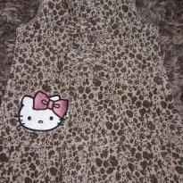 Vestido Hello Kitty Veludo Oncinha - 1 ano - Hello  Kitty