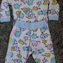 Pijama PUC Gatinhos - 9 a 12 meses - PUC