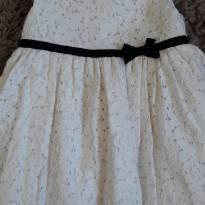 Vestido Carters Renda Off  White 18 meses - 18 meses - Carter`s