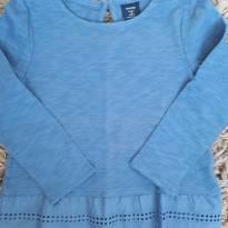 Blusinha GAP Azul com Renda 2T - 2 anos - GAP