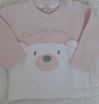 Conjunto Mini&Kids Plush Ursinho G - 6 a 9 meses - Mini & Kids