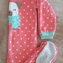 Macacão Pijama Carters Plush Cachorrinho 4T