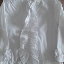 Camisa YOU com Babados Branca 4T - 4 anos - YOU