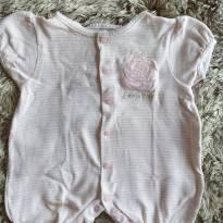 Macacão Baby Classic Rosa M - 3 a 6 meses - Baby Classic