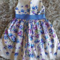 Vestido Momi Maravilhoso Flores Lilás 4T - 4 anos - Momi