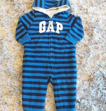 Macacão GAP Listrado Super Quentinho 12-18 meses - 12 a 18 meses - GAP
