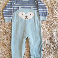 Macacão Carters Plush Raposa Azul 18M - 18 meses - Carter`s