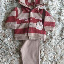 Conjunto Baby Classic Marrom G - 6 a 9 meses - Baby Classic