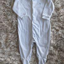 Macacão Ralph Lauren Azul Claro 9M - 9 meses - Carter`s