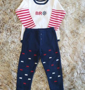 Conjunto Brow Up Marítimo GG - 9 a 12 meses - Grow up