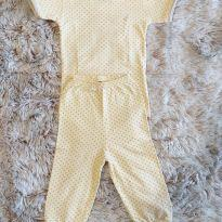 Pijama Toffe Algodão Pima Body Curto 6-9M - 6 a 9 meses - Toffee