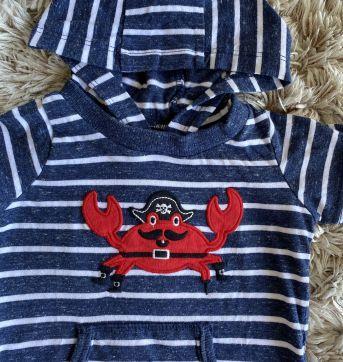 Macacão Carters Crab 9M - 9 meses - Carter`s