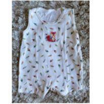 Macacão Regata VK Baby Raposa GG - 9 a 12 meses - VK Baby