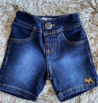 Bermuda Charpey Jeans G - 6 a 9 meses - Charpey