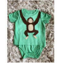 Body Camiseta Carters Macaquinho 6M - 6 meses - Carter`s