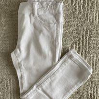 Calça Janie & Jack Jeans Branca 5T - 5 anos - Janie and Jack