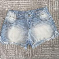 Shorts Momi Jeans Desfiado 6 T - 6 anos - Momi