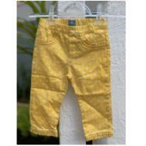 Calça fofa amarelinha de Poá Baby Gap - 12 a 18 meses - Baby Gap